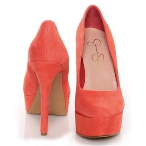Jessica Simpson Waleo Coral High Heel Pumps